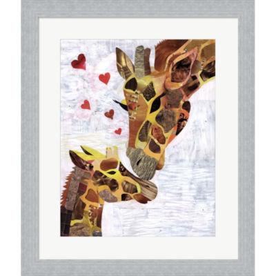 Metaverse Art Sweet Giraffes Framed Print Wall Art