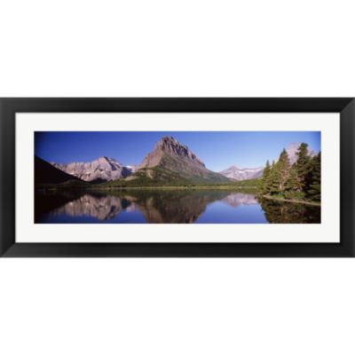 Metaverse Art Swiftcurrent LakeUs Glacier NationalPark Montana USA Framed Print Wall Art