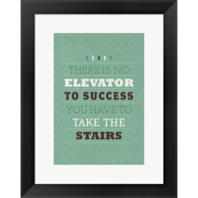 Metaverse Art Take The Stairs Framed Print Wall Art