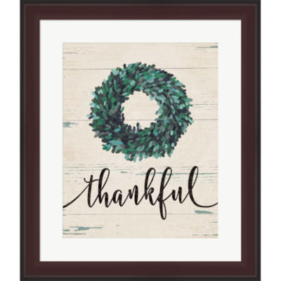 Metaverse Art Thankful Wreath Framed Print Wall Art