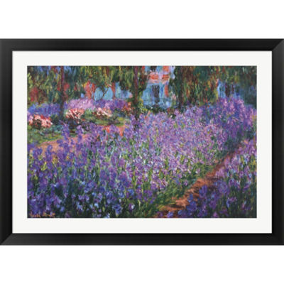 Metaverse Art The Artist's Garden At Giverny C.1900 Framed Print Wall Art