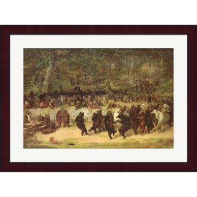 Metaverse Art The Bear Dance C.1870 Framed Print Wall Art