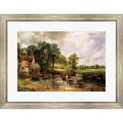 Metaverse Art The Hay Wain 1821 Framed Print WallArt