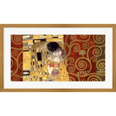Metaverse Art The Kiss (Gold) Framed Print Wall Art