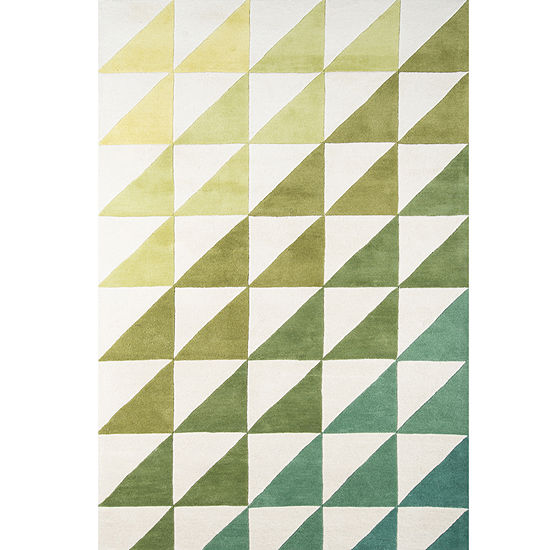 Novogratz By Momeni Side Triangles Hand Tufted Rectangular Indoor Rugs