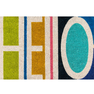 Novogratz By Momeni Hello Hand Tufted Rectangular Doormat