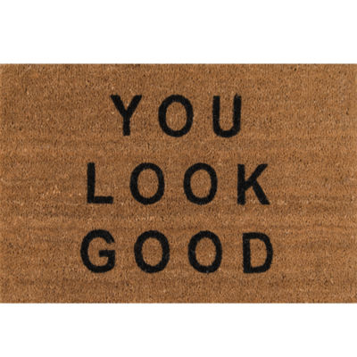Novogratz By Momeni Aloha You Look Good Hand Tufted Rectangular Doormat