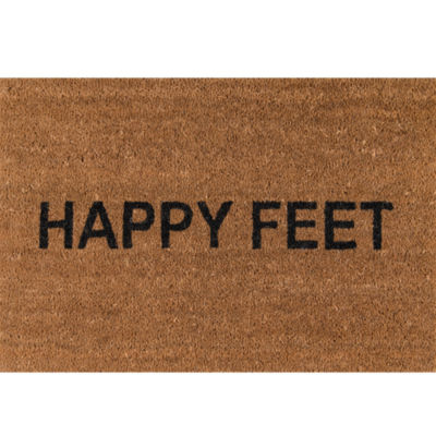 Novogratz By Momeni Happy Feet Hand Tufted Rectangular Doormat