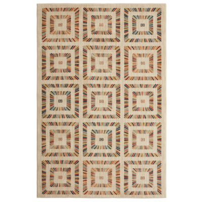 Mohawk Home Studio Rainbow Squares Printed Rectangular Indoor Rugs