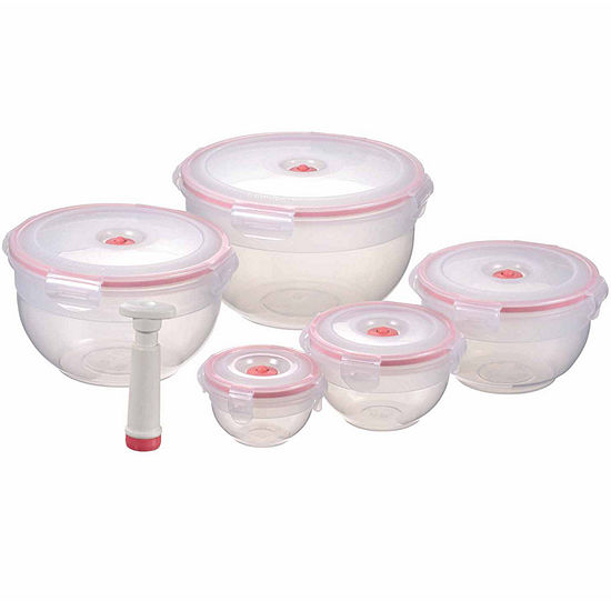 Lasting Freshness 11-piece Vacuum Food Storage Containers, Bowl