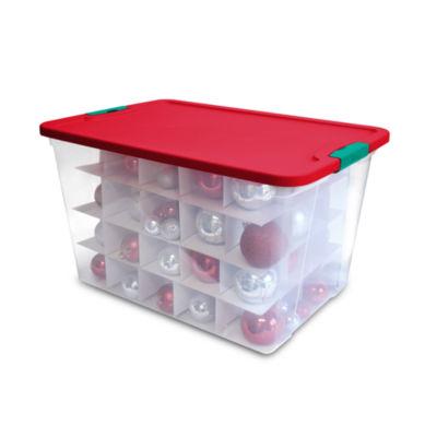 64-Quart Latching Ornament Holiday Storage Box