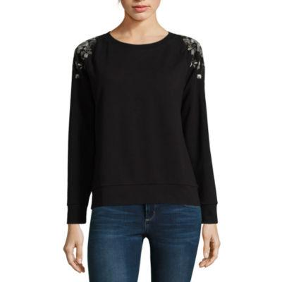 a.n.a Embroidered Shoulder Sweatshirt