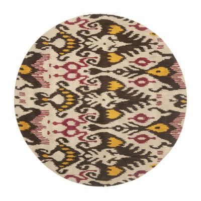 Safavieh Ikat Collection Keila Abstract Round AreaRug