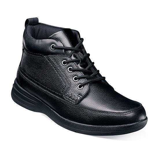 Nunn Bush Mens Cam Chukka Flat Heel Lace-up Boots