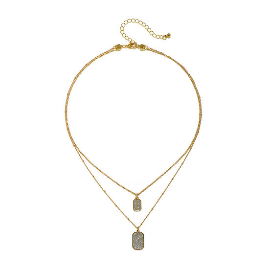 Mixit Link Dog Tag Chain Necklace