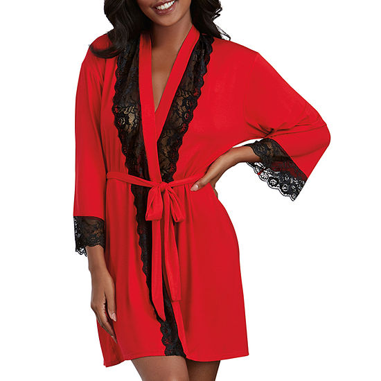 Dreamgirl Womens Robe 3/4 Sleeve Knee Length