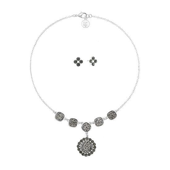 Liz Claiborne 2-pc. Gray Square Jewelry Set