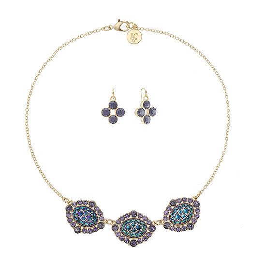 Liz Claiborne 2-pc. Multi Color Oval Jewelry Set