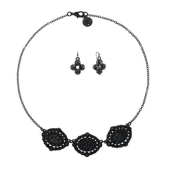 Liz Claiborne 2-pc. Black Oval Jewelry Set
