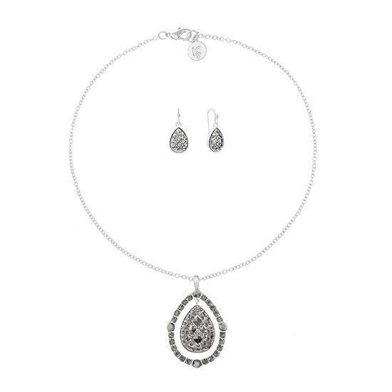 Liz Claiborne 2-pc. Gray Pear Jewelry Set
