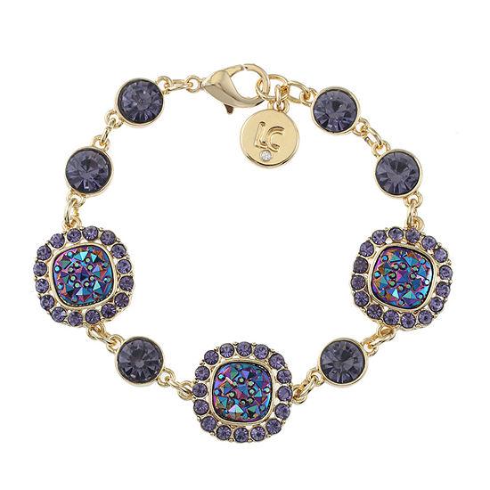 Liz Claiborne Multi Color Square Link Bracelet