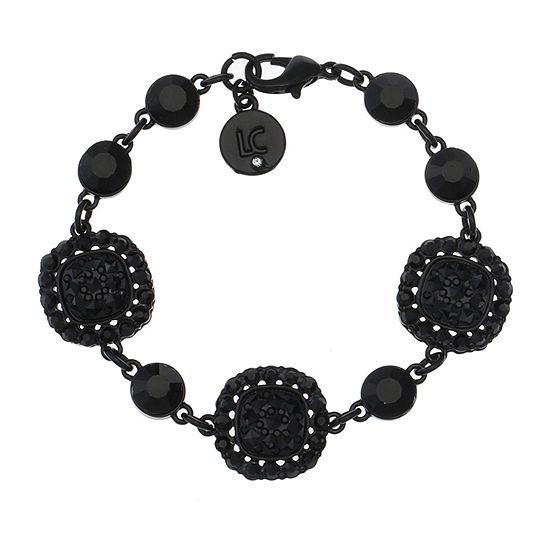 Liz Claiborne Black Square Link Bracelet