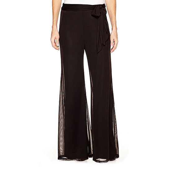 Onyx Womens Mid Rise Flare Pull-On Pants