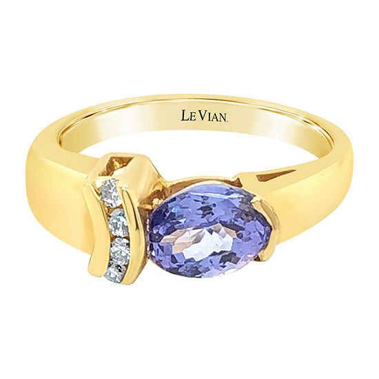 LIMITED QUANTITIES! Le Vian Grand Sample Sale™ Ring featuring Blueberry Tanzanite® set in 14K Honey Gold™