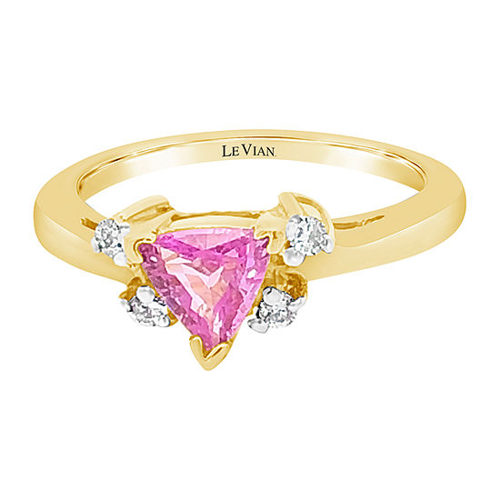 LIMITED QUANTITIES! Le Vian Grand Sample Sale™ Ring featuring Bubble Gum Pink Sapphire™ set in 14K Honey Gold™