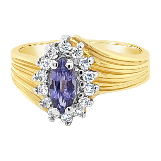 LIMITED QUANTITIES! Le Vian Grand Sample Sale™ Ring featuring Blueberry Tanzanite® set in 14K