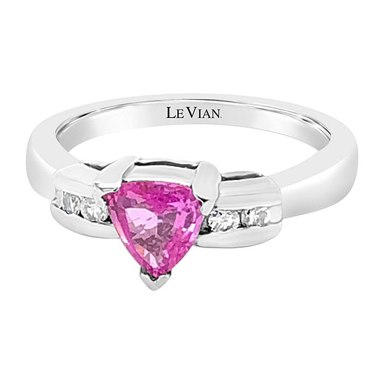 LIMITED QUANTITIES! Le Vian Grand Sample Sale™ Ring featuring Bubble Gum Pink Sapphire™ set in 14K Vanilla Gold®