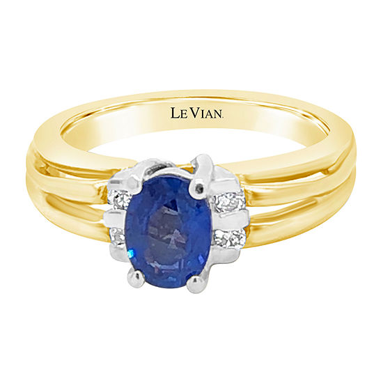 LIMITED QUANTITIES! Le Vian Grand Sample Sale™ Ring featuring Blueberry Sapphire™ set in 14K Two Tone Gold