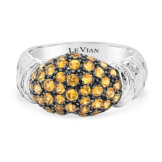 LIMITED QUANTITIES! Le Vian Grand Sample Sale™ Ring featuring Yellow Sapphire set in 18K Vanilla Gold®