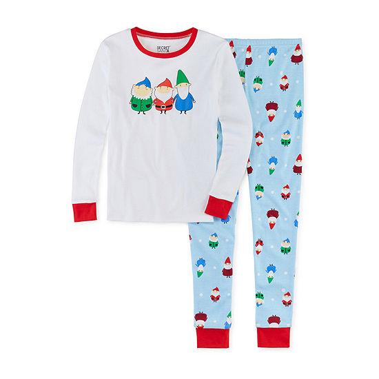 Secret Santa Gnomes Family Unisex 2-pc. Pant Pajama Set Preschool / Big Kid