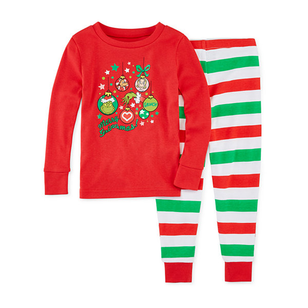 Dr. Seuss Grinch Family Girls 2 Piece Pajama Set - Toddler
