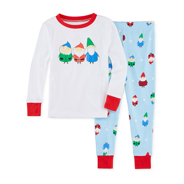 Secret Santa Gnomes Family Unisex 2-pc. Pant Pajama Set Toddler