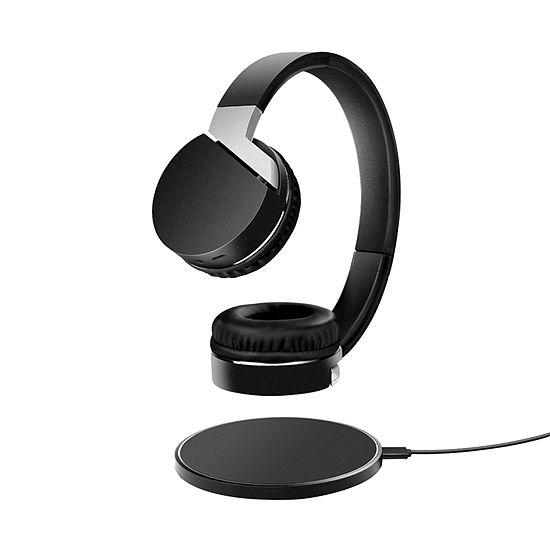 Sharper Image QI-Enabled Wireless Headphones & Charging Pad