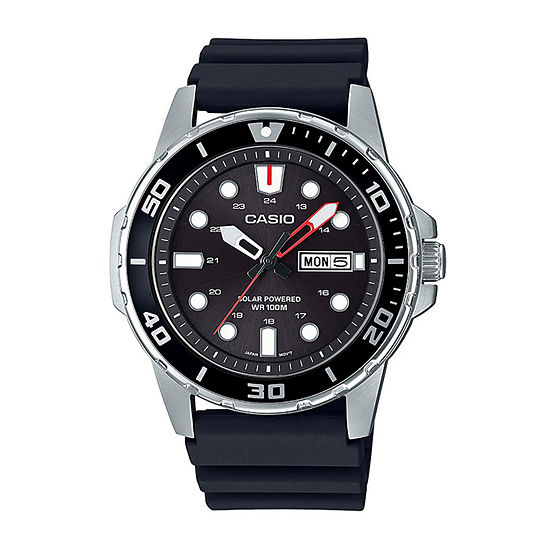 Casio Mens Black Strap Watch-Mtps110-1av