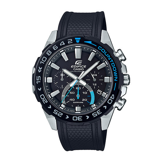 Casio Edifice Mens Black Strap Watch-Efss550pb-1a