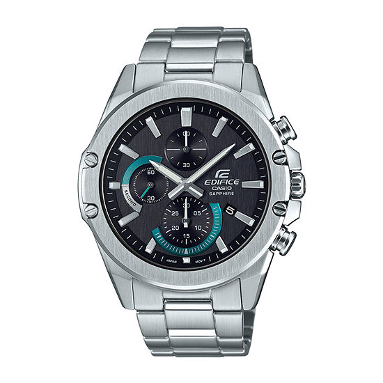 Casio Edifice Mens Silver Tone Stainless Steel Bracelet Watch-Efrs567d-1av