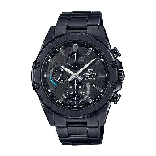 Casio Edifice Mens Black Stainless Steel Bracelet Watch-Efrs567dc-1a