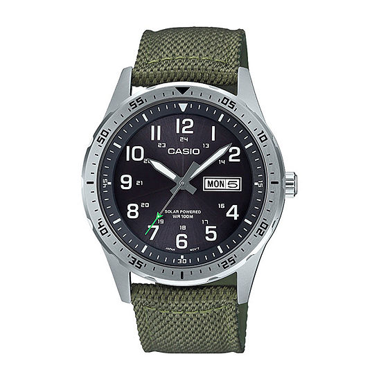 Casio Mens Green Strap Watch-Mtps120l-3av