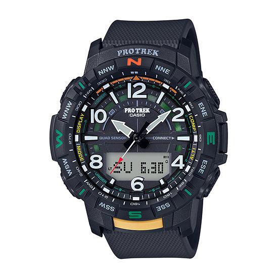 Casio Pro Trek Mens Multi-Function Black Strap Watch-Prtb50-1
