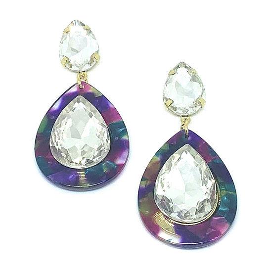 Bijoux Bar Crystal Drop Earrings