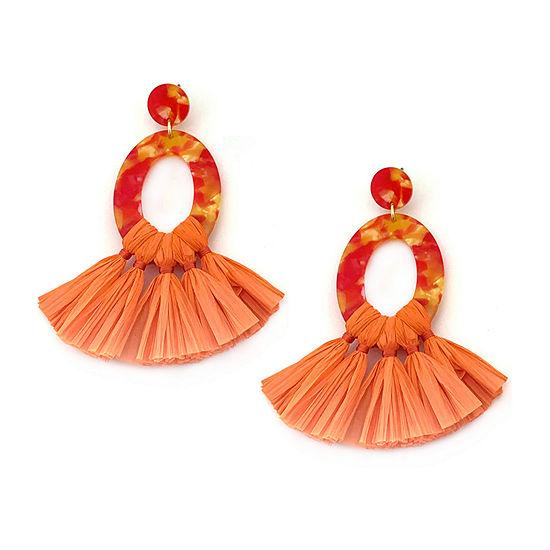 Bijoux Bar Orange Drop Earrings