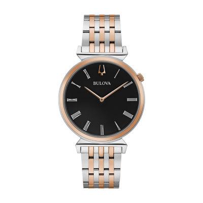 Bulova Regatta Mens Two Tone Stainless Steel Bracelet Watch-98a234