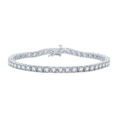 5 CT. T.W. Genuine Diamond 10K White Gold 7.5 Inch Tennis Bracelet