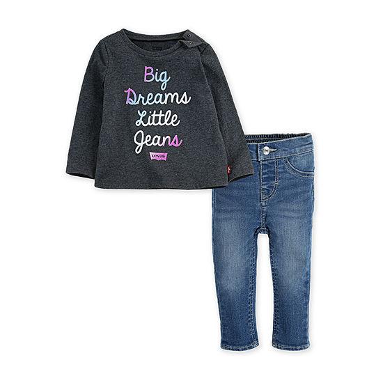 Levi's Girls 2-pc. Legging Set-Toddler