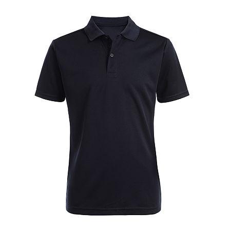 IZOD Little & Big Boys Short Sleeve Wrinkle Resistant Moisture Wicking Polo Shirt, Xx-small , Blue