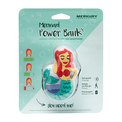 Merkury Innovations 2200 mAh Power Bank - Mermaid
